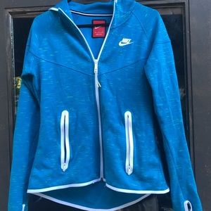 NIKE LONG-SLEEVE GYM  FULL ZIP HOODIE SWEATSHIRT